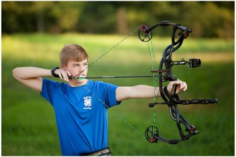 Senior guy archery photos