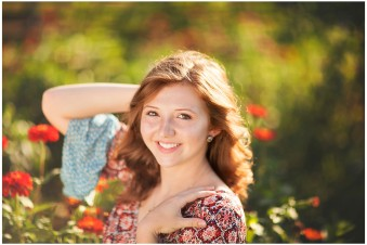 Colorful senior portraits